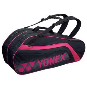 ヨネックス YONEX ラケットバッグ6(リュック付) テニスラケット6本用 BAG1812R [カラー:ブラック×ピンク] #BAG1812R-181