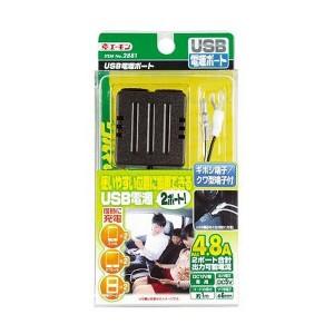送料無料 【エーモン】USB電源ポート 2ポート #2881 AMON カー用品