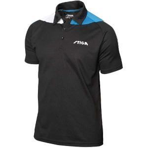 スティガ 卓球ユニフォーム パシフィックシャツ [サイズ:S] [カラー:ブラック×ブルー] #1854331604 STIGA 送料無料 12%OFF