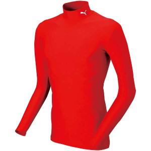 8%OFF 送料無料 COMPRESSION モックネック LSシャツ [サイズ:S] [カラー:プーマレッド×ホワイト] #920480-03 PUMA