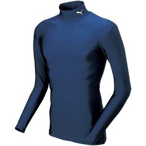 プーマ PUMA COMPRESSION モックネック LSシャツ [サイズ:XL] [カラー:ネイビー×ホワイト] #920480-02 スポーツ・アウトドア