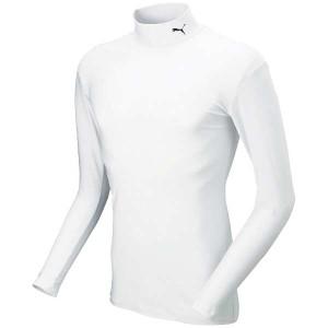 プーマ PUMA COMPRESSION モックネック LSシャツ [サイズ:3XL] [カラー:ホワイト×ブラック] #920480-13 スポーツ・アウトドア