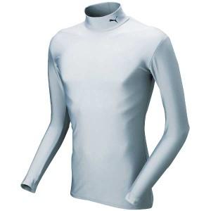 プーマ PUMA COMPRESSION モックネック LSシャツ [サイズ:L] [カラー:シルバー×ブラック] #920480-12 スポーツ・アウトドア