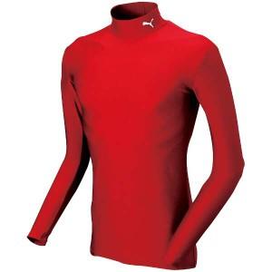 プーマ PUMA COMPRESSION ジュニアモックネック LSシャツ [サイズ:150] [カラー:ワイン×ホワイト] #920481-05 スポーツ・アウトドア