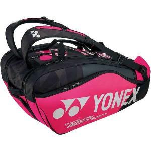 ヨネックス ラケットバッグ9(リュック付) テニスラケット9本用 [カラー:ブラック×ピンク] #BAG1802N-181 YONEX 送料無料 25%OFF