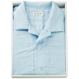 送料無料 【内野】マシュマロガーゼパジャマ メンズM RC15680M UCHINO 衣料品・布製品・服飾用品  ポイント5倍