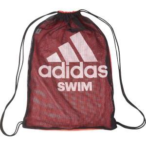 アディダス ADIDAS スイムメッシュバッグ [カラー:ブラック×ソーラーレッド×ホワイト] #ETQ28-CV4013 スポーツ・アウトドア