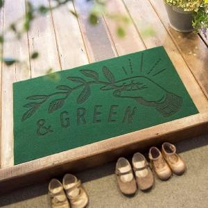 オカトー OKATO &GREEN 玄関マット GREEN インテリア・寝具・収納