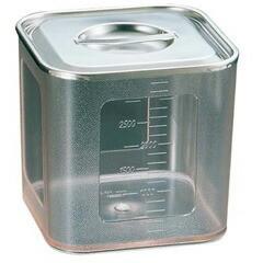 三宝産業 UK ポリカーボネイト 角型キッチンポット(目盛付) 18cm SAMPO SANGYO 送料無料 27%OFF キッチン用品