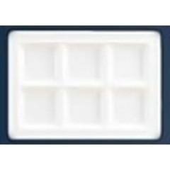 関東プラスチック工業 KANTOH PLASTIC INDUSTRY スクエアプレート 6仕切皿 M-2360 ホワイト キッチン用品