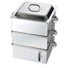 江部松商事 EBM 電磁専用 業務用角蒸器(水量計付) 30cm 2段 EBEMATU SYOUJI 送料無料 39%OFF キッチン用品