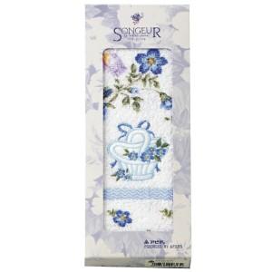 ソン・ジュール フェイスタオル ブルー SG-040 SONGEUR 日用品・生活雑貨