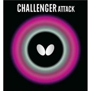 バタフライ BUTTERFLY チャレンジャー・アタック 卓球ラバー [カラー:レッド] [サイズ:厚] #00180 スポーツ・アウトドア