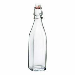 【ウォーターボトル ガラス】BORMIOLI ROCCO ボルミオリロッコ スイングボトル 角 0.5L(3.14740) キッチン用品