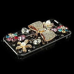 iPhoneSE / iPhone5s  iPhone SE iPhone 5s ラインストーンケース きらめくちょう結び 電化製品 iPhone5/iPhone5s Cases