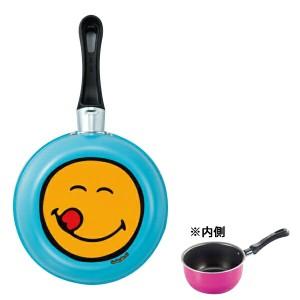 アピデ カラースマイリークックウェア ミニソースパン 14cm アクアブルー SMIL-CS14B APIDE 送料無料 キッチン用品  ポイント15倍