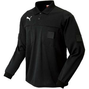 プーマ PUMA 長袖レフリーシャツ サッカー審判ウェア [カラー:ブラック] [サイズ:XO] #903306 スポーツ・アウトドア