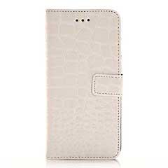 iPhone6s ケース 4.7 inch 手帳型/横開き ワニ皮風デザイン レザーケースカバー 財布/カードスロット付/スタンド機能付き ホワイト