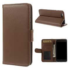 iPhone6s ケース / iPhone6 ケース 4.7 inch 手帳型/横開き レザーケースカバー カードスロット付/スタンド機能付き ブラウン 1