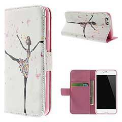 送料無料 iPhone6s ケース / iPhone6 ケース 4.7 inch 手帳型/横開き レザーケースカバー 財布/カードスロット付/スタンド機能付き 3