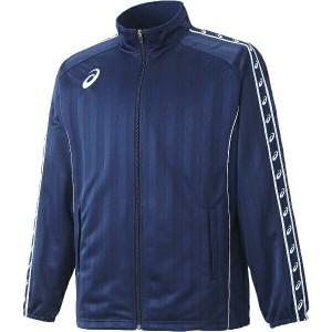 アシックス ASICS トレーニング用 ウォームアップジャケット [カラー:ネイビーブルー] [サイズ:150] #XST169 スポーツ・アウトドア