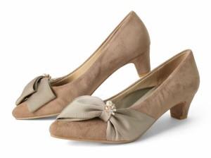 【SALE 20%OFFセール】 パンプス ポインテッドトゥ ローヒール ヒール4cm スエード クライム CLIMB ヒール (3482) 靴 【送料無料】