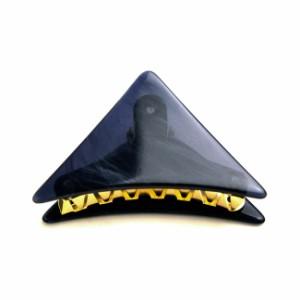 【メール便送料無料SALEセール】レトロべっ甲風マーブルトライアングル三角形バンスクリップヘアクリップレディースシンプル琥珀風鼈甲