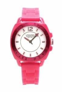 3f08b1dc1389 【ウォッチ】 コーチ ボーイフレンド ホワイト文字盤 SS ピンクラバー レディース クォーツ 腕時計 CA
