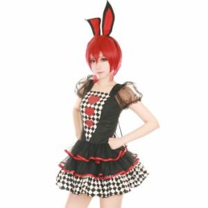 【コスプレ バニーガール】ハロウィン コスプレ バニーガール 3点セット M〜Lサイズあり z049