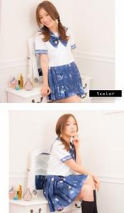 【コスプレ 制服 セーラー服】セーラー服 コスプレ 制服 女子高生 ブレザー S〜2Lサイズあり 3点セット costume944
