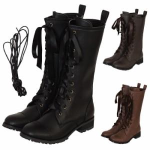 【ゴスロリ ロリィタ 靴】リボンロングブーツ ブーツ パンプス 靴 シューズ コスプレ 22.5〜26.0サイズあり 3色展開 s534