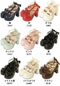 【ゴスロリ ロリィタ 靴】フォーマル靴(女子用) フォーマルシューズ 発表会 結婚式 卒園式 卒業式 入学式 22.5〜27.0サイズあり 10色