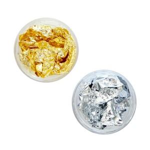 金箔・銀箔 ゴールド・シルバー箔 ラメとは違うゴージャス感・エレガント感がアップ @ネイル素材 _a0024