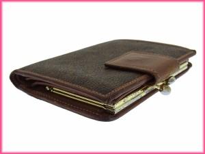 セリーヌ CELINE がま口財布 二つ折り メンズ可 マカダム [中古] 激安 人気 C1503