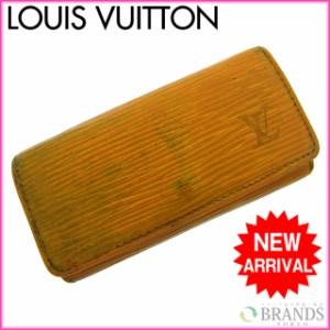 ルイヴィトン Louis Vuitton キーケース メンズ可 ミュルティクレ4 M63829 エピ (参考定価23100円) [中古] (激安・即納) D308