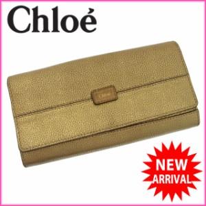 クロエ Chloe 財布 長財布 ロゴ レディース 中古 F542