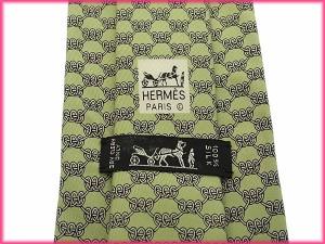 エルメス HERMES ネクタイ メンズ 曲線柄 [中古] 美品 人気 G613