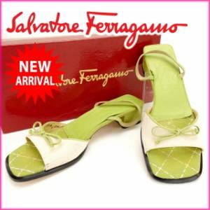 サルヴァトーレ・フェラガモ Salvatore Ferragamo サンダル #7 1/2 B 人気 良品【中古】 Y750