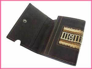 グッチ Gucci カードケース ロゴ 刺繍ライン レディース 中古 Y899