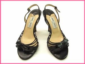 ジミーチュウ JIMMY CHOO ミュール サンダル靴 レディース ♯36リボンモチーフ付き [中古] (良品・即納) N100