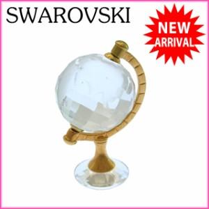 スワロフスキー SWAROVSKI 置物 オブジェインテリア コレクション 地球儀モチーフ スワンマーク [中古] (美品) N149