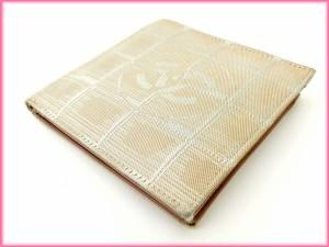 シャネル CHANEL 二つ折り財布  ニュートラベルライン [中古] 良品 人気 N185