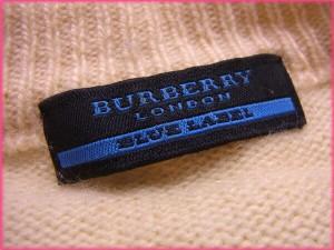 バーバリー・ブルーレーベル BURBERRY BLUE LABEL ニット ハイネック メンズ ホース刺繍入り ボーダー [中古] 激安 人気 N192
