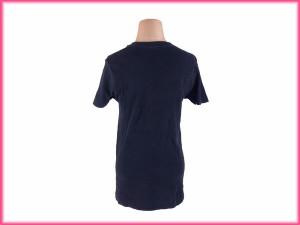 バーバリー BURBERRY Tシャツ カットソー レディースメンズ可 ♯Mサイズ 半袖 Vネック [中古] 激安 人気 N193