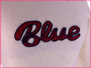 バーバリー・ブルーレーベル BURBERRY BLUE LABEL ニット 7分袖 レディース ♯38サイズ タートルネック ロゴ [中古] 良品 人気 N197
