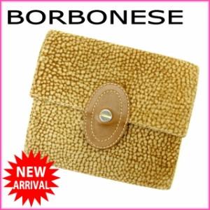 ボルボネーゼ BORBONESE 三つ折り財布 メンズ可 うずら [中古] 良品 人気 N221