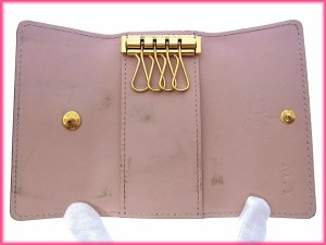 ルイヴィトン Louis Vuitton キーケース 4連キーケース レディース ミュルティクレ4 ヴェルニ良品 セール【中古】 Y2587