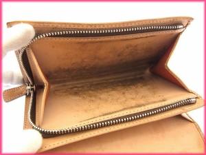 コーチ COACH L字ファスナー財布 二つ折り メンズ可 シグネチャー ストライプ [中古] 激安 セール N243