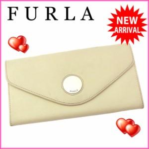 フルラ FURLA 長財布 ファスナー 二つ折り レディース ロゴプレート [中古] 激安 セール N253