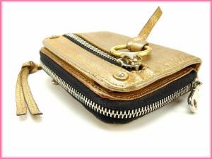 クロエ Chloe 二つ折り財布 ラウンドファスナー メンズ可 激安 セール【中古】 Y2278